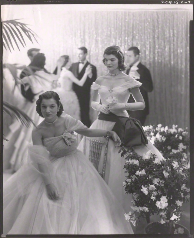 NPG x40312; Jacqueline Lee Bouvier Kennedy Onassis; Princess Lee Radziwill (nÈe Bouvier) by Cecil Beaton