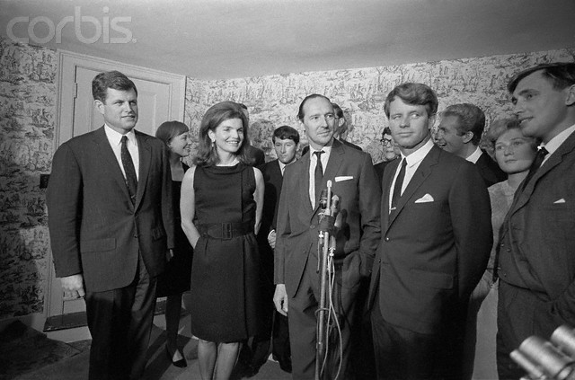 Mrs. Kennedy, Edward and Robert Kennedy and Lord Harlech