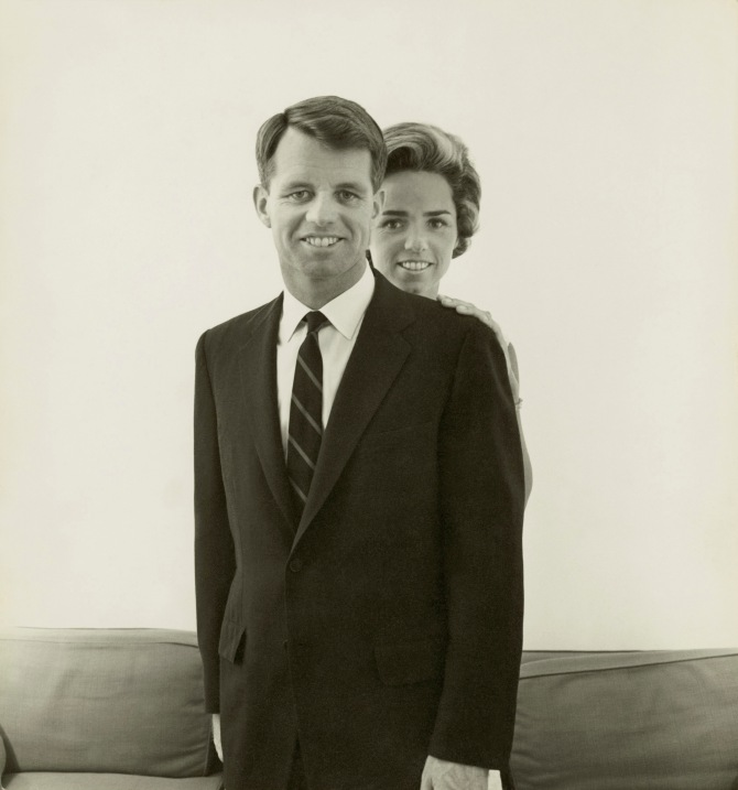 Robert F. Kennedy and His Wife Ethel