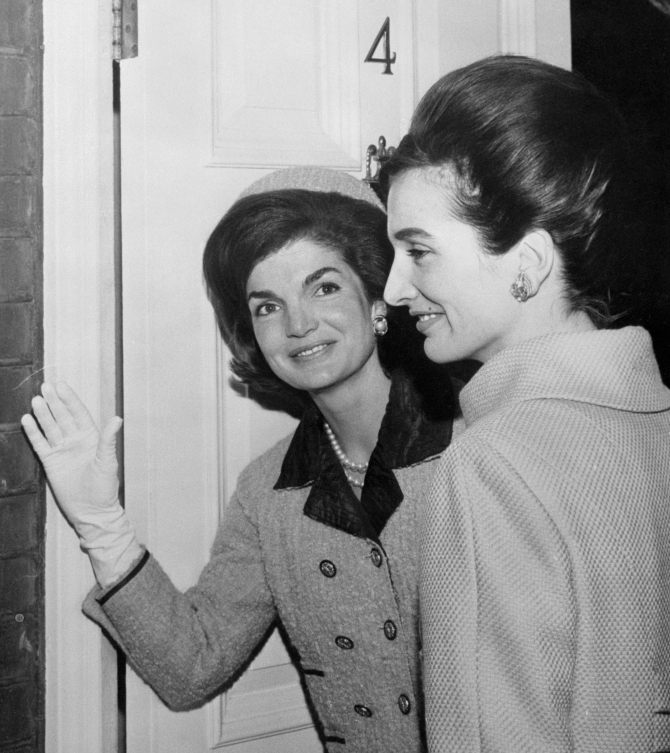 Jacqueline Onassis and Princess Lee Radziwill