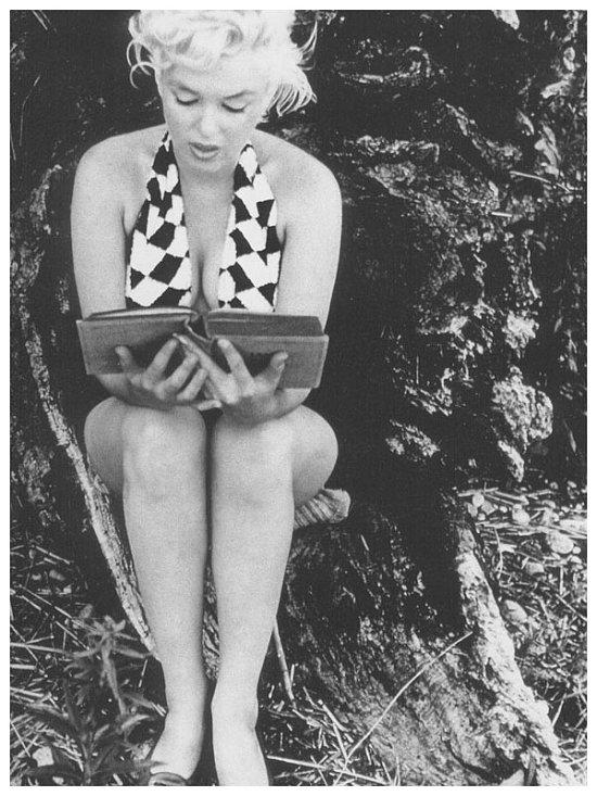 Αποτέλεσμα εικόνας για marilyn reading