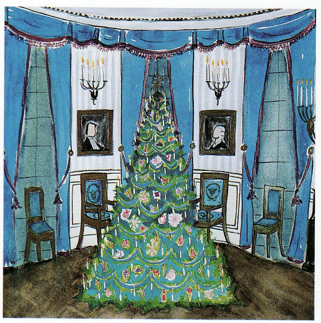 jbko sketch of the blue room, white house