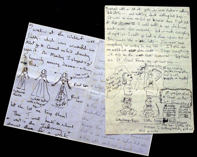 Hantmans auction Jackie Bouvier letters to older girlfriend 1944-1947
