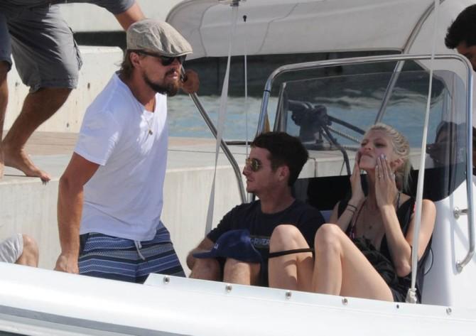 Leonardo DiCaprio, Toni Garrn, & Kevin Connolly In Ibiza
