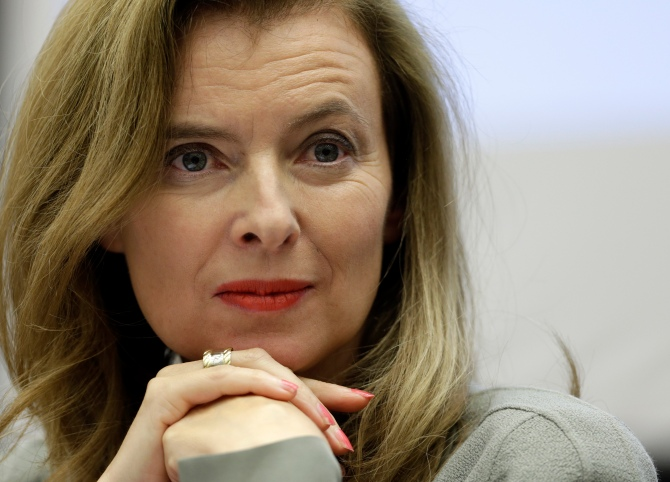 Trierweiler, companion of French President Hollande, attends a side event during a session of the Human Rights Council at the United Nations European headquarters in Geneva