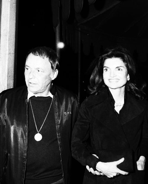 UNITED STATES - APRIL 16: Jacqueline Kennedy with Frank Sinatra at Jilly's (Photo by NY Daily News Archive via Getty Images)