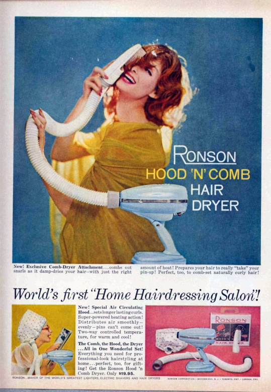 The Ronson Hood _n_ Comb Hair Dryer