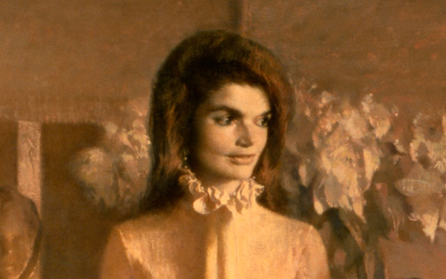 jacqueline kennedy white house portrait close up