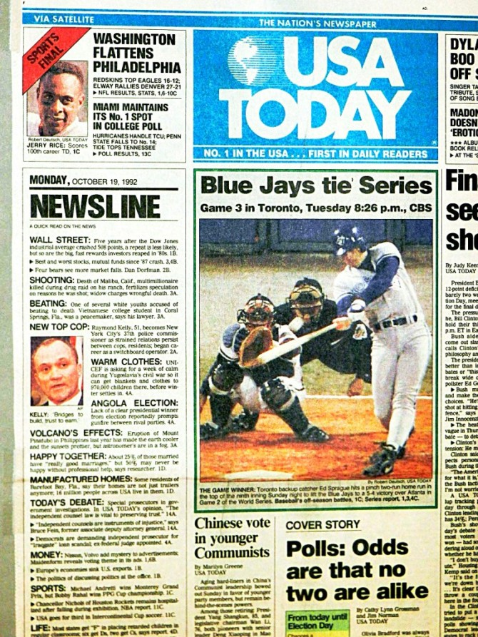 usa today 1992