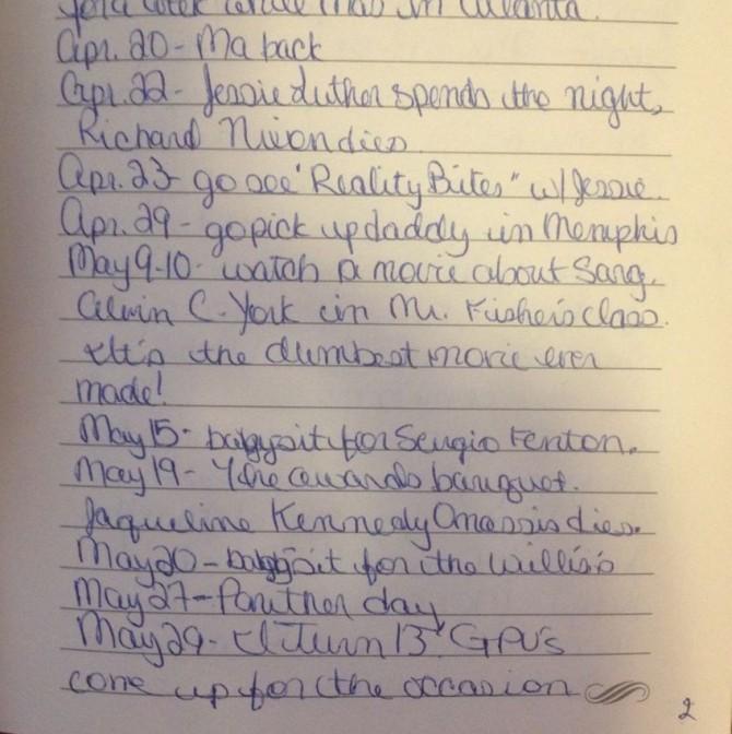 via my diary, late 1994ish