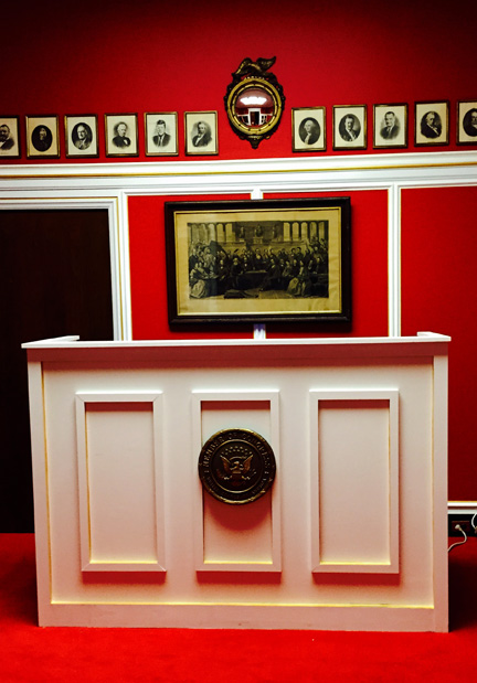 reception area, aaron schock's office, via the washington post