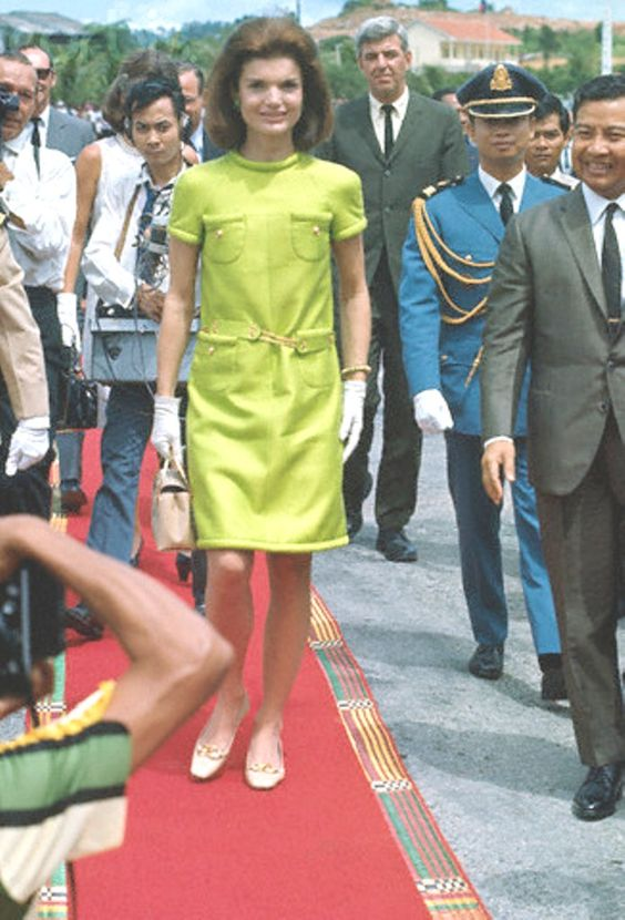 06 Nov 1967, Cambodia --- Jackie Kennedy with Norodom Sihanouk --- Image by © Bettmann/CORBIS