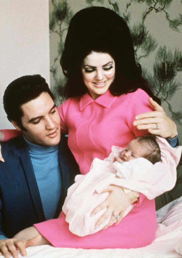 priscilla and elvis presley with lisa marie