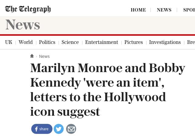 (via the telegraph)